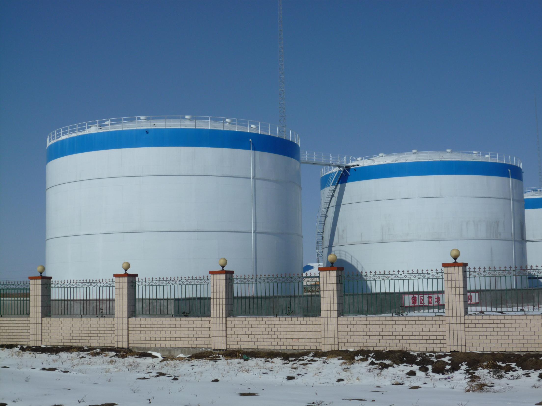 库体为圆柱形,库顶为球缺形的圆形仓库.